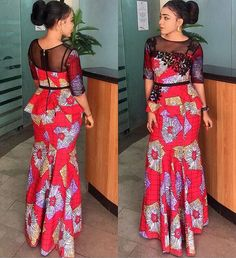 Latest ankara skirt and blouse out 25 classical ankara skirt and blou. from Diyanu - Ankara Dresses, Shirts & African Fashion Ankara, African Fashion Designers, Latest African Fashion Dresses, African Print Dresses, African Dress, Latest Fashion, African Attire, African Wear, African Women