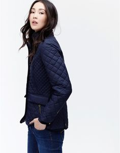 Newdale Marine Navy Classic Fit Quilted Jacket | Joules UK