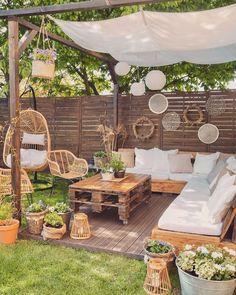 Outdoor Rooms, Outdoor Living, Outdoor Decor, Backyard Patio Designs, Patio Ideas, Backyard Seating, Backyard Landscaping, Backyard Ideas, Outside Living