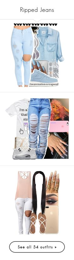 """""""Ripped Jeans"""" by uniquee-beauty ❤ liked on Polyvore featuring Rails, Belk Silverworks, MICHAEL Michael Kors, Beats by Dr. Dre, NIKE, Billabong, Floss Gloss, Glamorous, Vans and Ralph Lauren"""