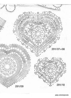 crochet hearts, Free pattern