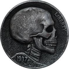 Skull Hobo Nickel by Paolo Curcio.