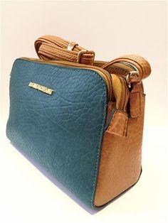 La Bella Donna - Γυναικειες Τσαντες Ωμου Καφε-Πετρολ Suitcase, Fashion, Moda, Fashion Styles, Fashion Illustrations, Briefcase