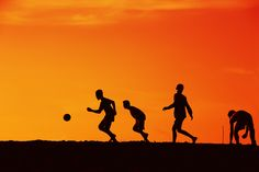 """Soccer in Silhouette"" by I Nyoman (butur) Suantara"