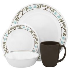 Corelle® Livingware™ Tree Bird 16-piece Dinnerware Set | Walmart.ca