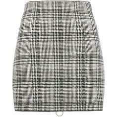 Off-White zipped check mini skirt