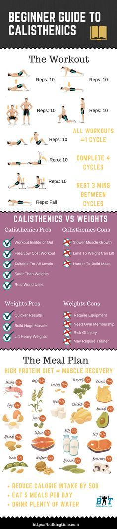 Infographic on Calisthenic Workout