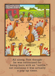 Cardstore makes it easy to personalize and mail Thanksgiving cards like Turkey Pop-up Timer card. Just add your own photos, text and a signature to a funny Thanksgiving cards and we'll mail it for you! Thanksgiving Cartoon, Thanksgiving Quotes Funny, Thanksgiving Pictures, Thanksgiving Cards, Funny Cartoons, Funny Memes, Funny Quotes, Hilarious, Turkey Jokes