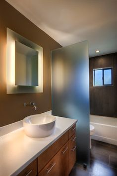 How could I translate this to a studio apartment for room divider?  Room Dividers Bathroom Design Ideas, Pictures, Remodel and Decor