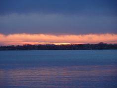 Lake Florida sunset at 7:55