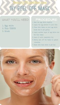 DIY blackhead removal/peel off mask - Click image to find more diy & crafts Pinterest pins