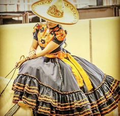 Mexican Costume, Mexican Outfit, Quince Dresses, 15 Dresses, Folklorico Dresses, Mexican Style Dresses, Beautiful Mexican Women, Mexican Quinceanera Dresses, Vestido Charro