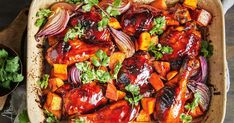 This Asian twist on roast chicken tray bake is packed with veg and has a soy sauce-based marinade. Chicken Tray Bake Recipes, Meat Recipes, Asian Recipes, Cooking Recipes, Ethnic Recipes, Cooking Ideas, Tamarind Chicken Tacos, Tamarind Sauce, Grilled Prawns