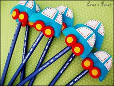 Coche Crafts For Boys, Art For Kids, Diy And Crafts, Arts And Crafts, Foam Crafts, Paper Crafts, Felt Pincushions, Pen Toppers, Back To School Crafts