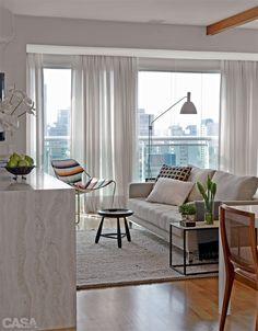 Apartamento pequeno: integração total ampliou os 55 m² - Casa