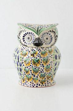 Handpainted Folk Owl Cookie Owl