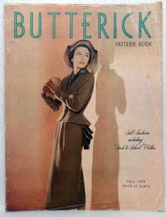 Butterick Pattern Book, Fall 1948 featuring Butterick 4626
