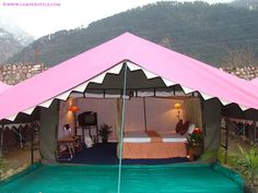 Book 1 Night/ 2 Days Stay (2 persons) in Super Luxury Tents at Camp Exotica Manali by Camp Exotica.