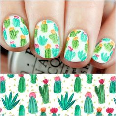 Happy Saturday! I've got my final @digitaldozen Spring mani to share with you all today! I went with adorable little cacti! This was inspired by the beautiful pattern shown here that was created by /emilynelsonart/. More photos and info on the blog now (link in profile) and I'd love to hear what your favorite look of the week was! #thedigitaldozen
