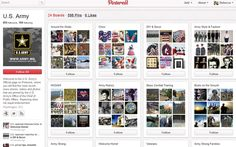 The U.S. army has embraced Pinterest. (Pinterest.com/usarmy)