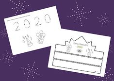 Προσχολικές Διαδρομές - Preschool Paths: Φύλλο εργασίας και καπελάκι για τη νέα χρονιά Blog, Cards, Blogging, Maps, Playing Cards