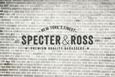 Suits: Specter & Ross by Hannah Adriano, via Behance