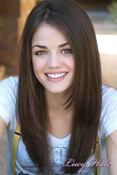 lucy hale - love hair and her natural looking makeup