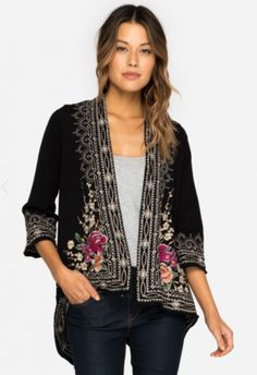 Johnny Was Flores Velvet Drape Cardigan https://cowgirlkim.com/collections/whats-new/products/johnny-was-flores-velvet-drape-cardigan