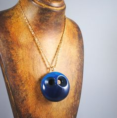 Vintage Blue Ghost Owl Pendant Mod 1960s by ErikasCollectibles, $84.00