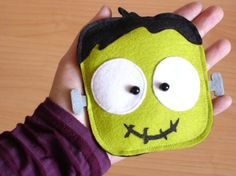 Halloween Frank Green Purse Trick or Treat by lovelia on Etsy, $16.00