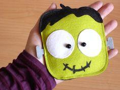 Halloween Frank Green Purse Trick or Treat by lovelia on Etsy, $16.00