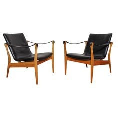 Pair of Chairs by Ebbe and Karen Clemmensen | From a unique collection of antique and modern armchairs at https://www.1stdibs.com/furniture/seating/armchairs/