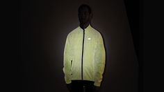 Sugoi Zap Jacket http://www.bicycling.com/bikes-gear/reviews/lights-out-11-pieces-of-brilliantly-reflective-cycling-gear/slide/4