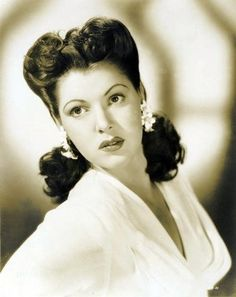 Todays 1940s hair & makeup inspiration from Diana Barrymore (March 3, 1921 – January 25, 1960)