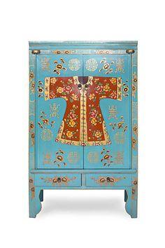 Muebles chinos | armario de Boda Turquesa Kimono