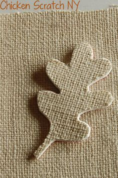 make a textured stamp out of burlap!!