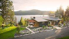 DIY Network Blog Cabin overlooks stunning Lake Coeur d'Alene.