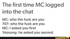 First time MC logged in