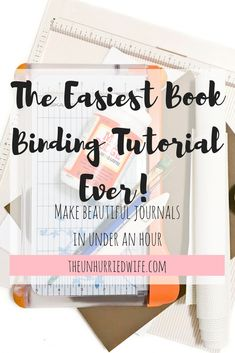 The simplest bookbinding tutorial for creating softcover journals in less than a. - The simplest bookbinding tutorial for creating softcover journals in less than an hour, - Handmade Notebook, Diy Notebook, Handmade Journals, Homemade Journal, Homemade Books, Bookbinding Tutorial, Book Journal, Art Journals, Book Binding