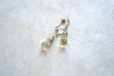 Limon Crystal Earrings by CorrettiDesigns on Etsy, $7.00