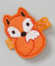 Orange Fox Clip by Kitschy Cute #zulily #zulilyfinds