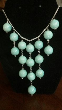 "Adjustable 18""-24"" Mint Green Necklace by JJ Joolz Designs"