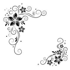 Find flowery border stock images in HD and millions of other royalty-free stock photos, illustrations and vectors in the Shutterstock collection. Art Floral, Design Floral, Henna Drawings, Pencil Art Drawings, Flower Logo, Flower Art, Brush Embroidery Cake, King Crown Tattoo, Calligraphy Borders