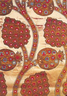 Pomegranate: Icon of the Silk Road | The Arastan Journey: Pomegranate flowers and fruits in an Ottoman kaftan