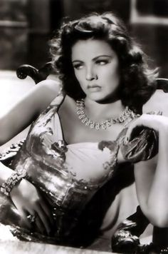 Gene Tierney. Possibly a publicity shot for The Shanghai Gesture (1941)