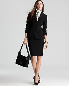 Elie Tahari suit- another perfect outfit.