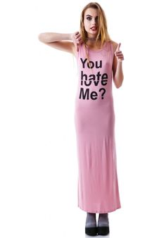 Umgee Love to Hate Statement Maxi Dress