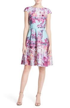 Free shipping and returns on Adrianna Papell Floral Print Scuba Fit & Flare Dress (Regular & Petite) at Nordstrom.com. Bright, cheerful blooms pattern the modern scuba fabric of this eye-catching dress, while the sweet cap sleeves and a gently flared skirt contribute to the classic silhouette.