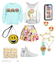 """Emoji"" by alta-2 ❤ liked on Polyvore featuring Samsung, Kate Spade, Venessa Arizaga, OLIVIA MILLER and Converse"