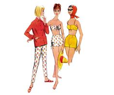 60s Stovepipe Pants & Bikini Pattern by allthepreciousthings